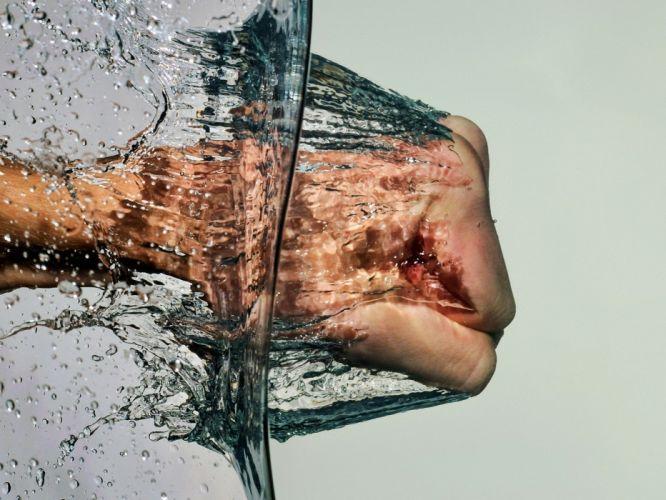 Water nature hands splash anger photomanipulations normal wallpaper