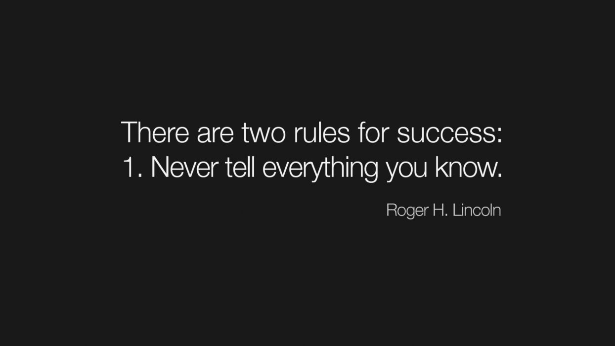 Rules text only lincoln success wallpaper