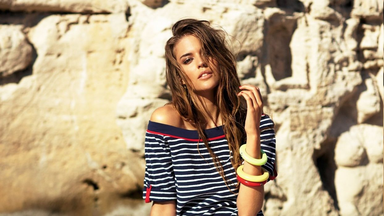 Brunettes women models clara alonso wallpaper