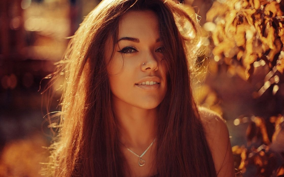 Light women close up people piercings faces wallpaper