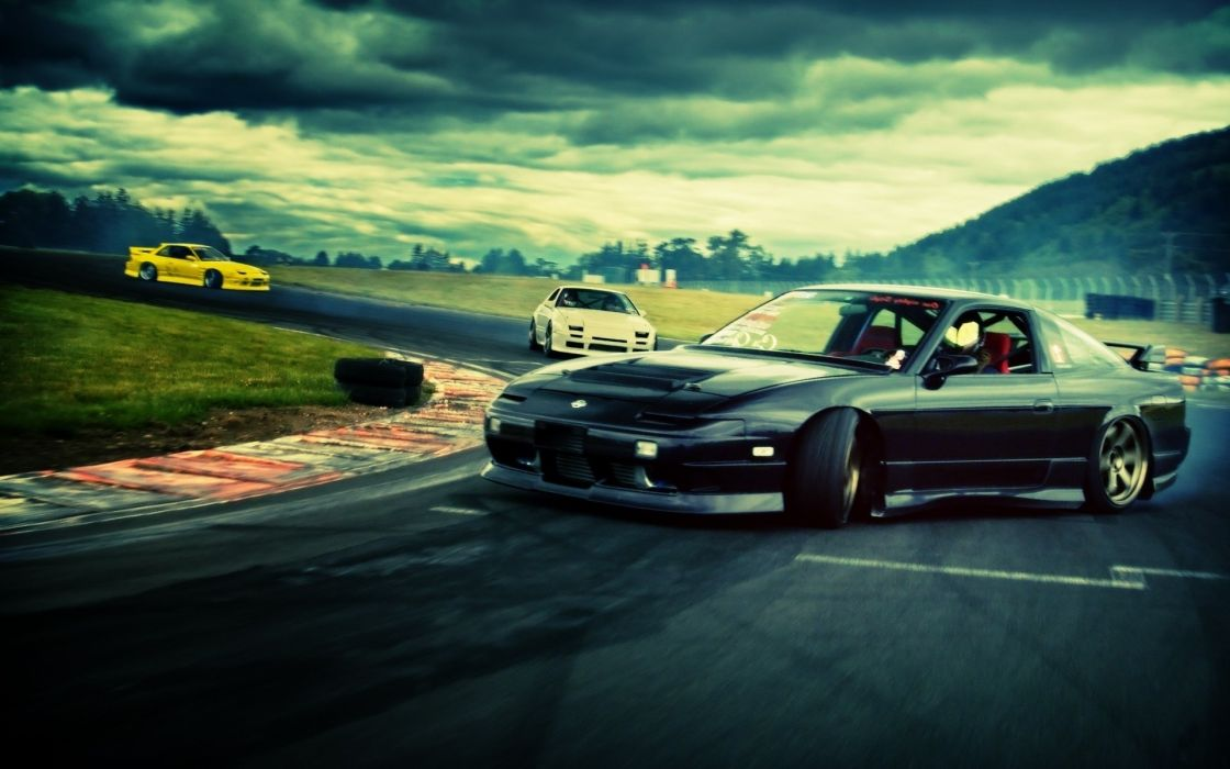 Clouds cars roads skyscapes races wallpaper