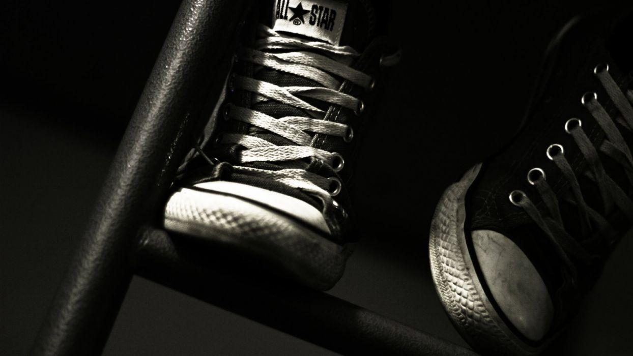 Black shoes monochrome all star wallpaper