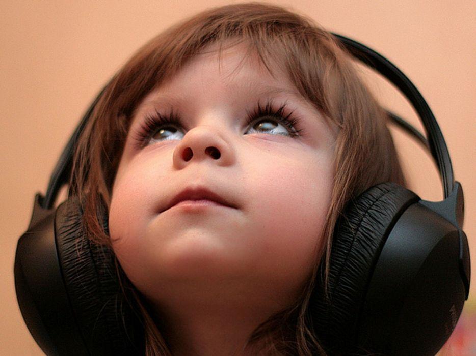 Headphones music kids children wallpaper