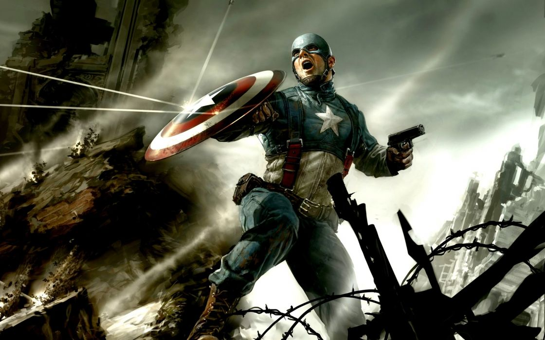Captain america cg wallpaper