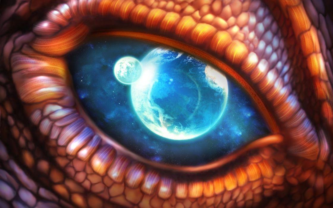 Dragon eye wallpaper