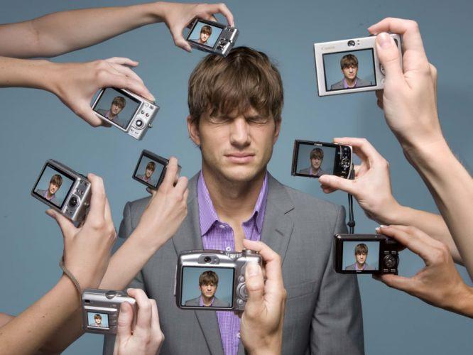 Taking photos of ashton kutcher wallpaper