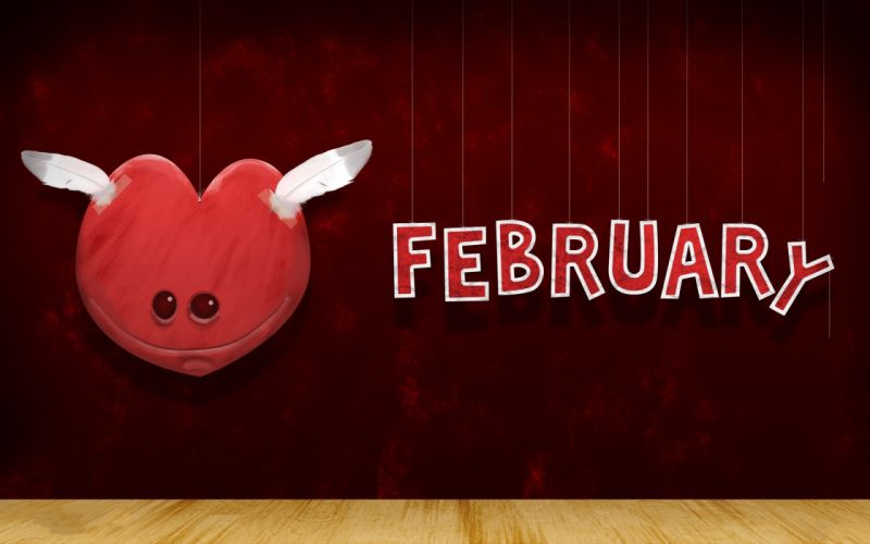 February month of love wallpaper