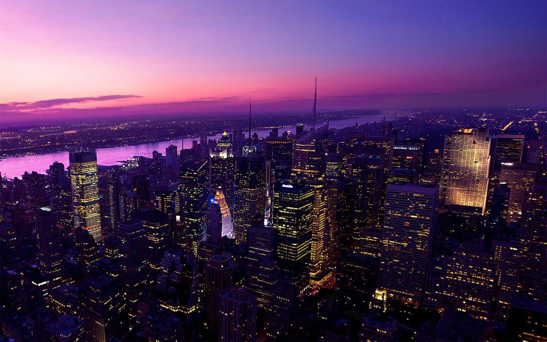 Twilight in new york city wallpaper