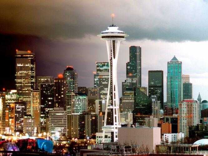 Seattle skyline washington wallpaper
