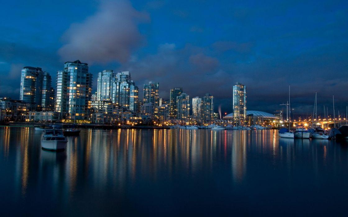 Vancouver dusk wallpaper