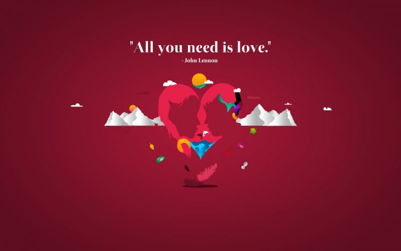 All you need is love wallpaper