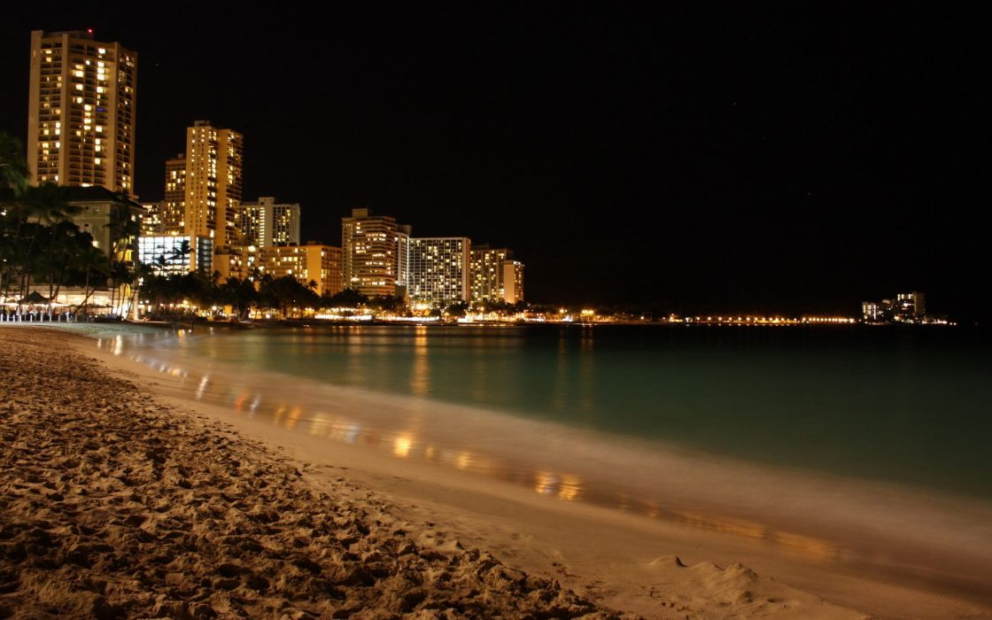 Beach cityscapes wallpaper