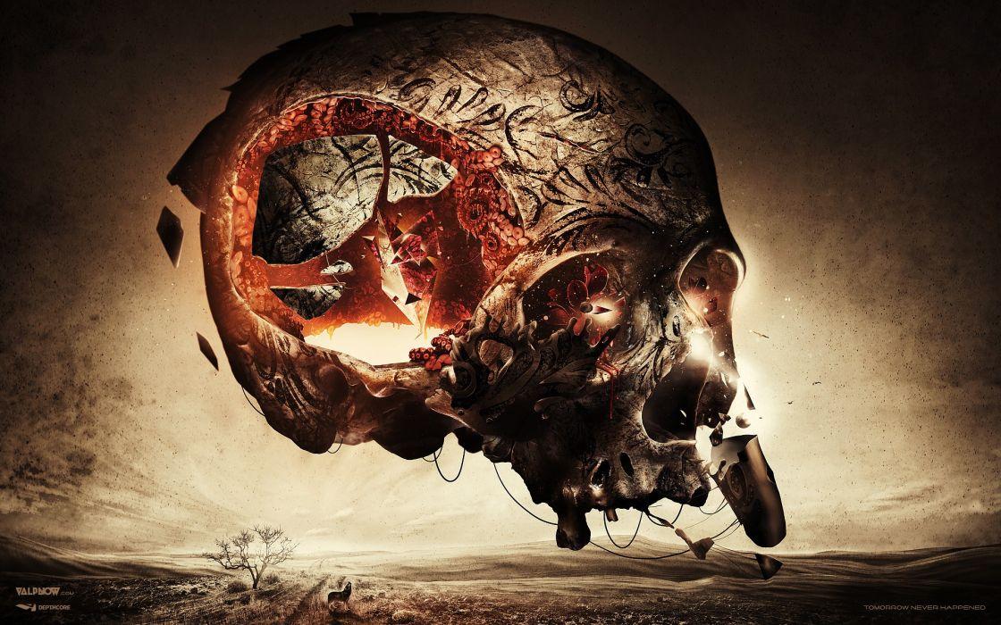 Skulls creative artwork wallpaper