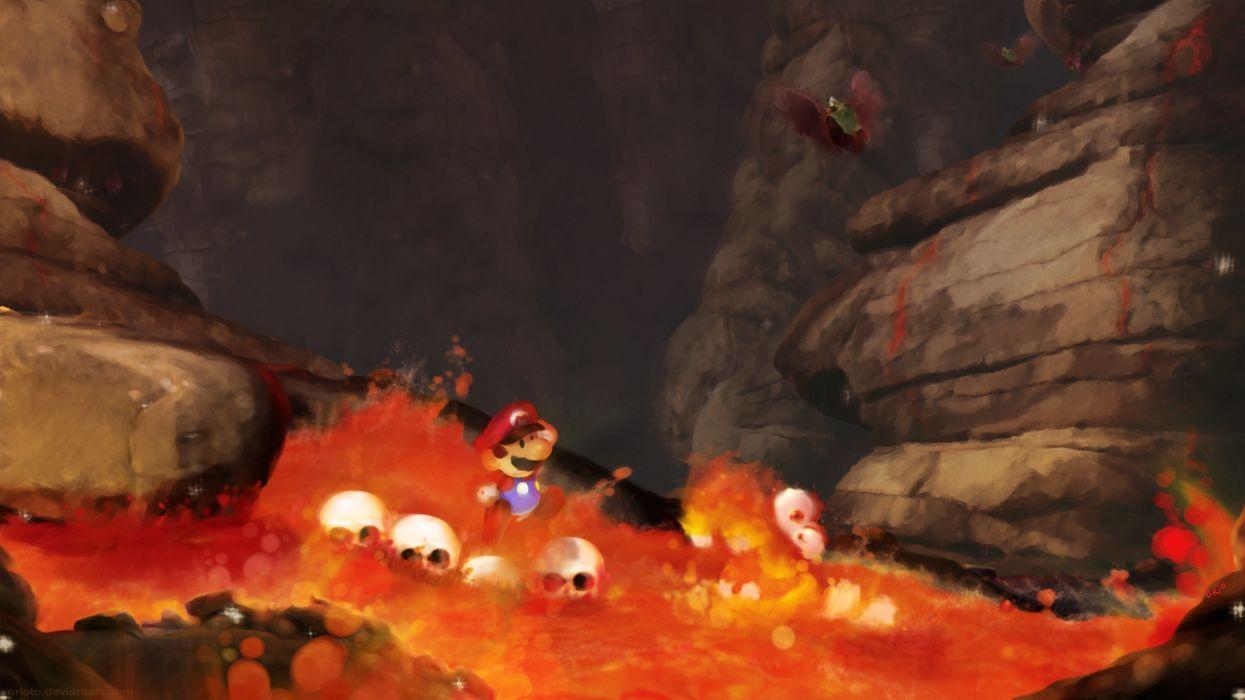 Mario lava super mario bros wallpaper