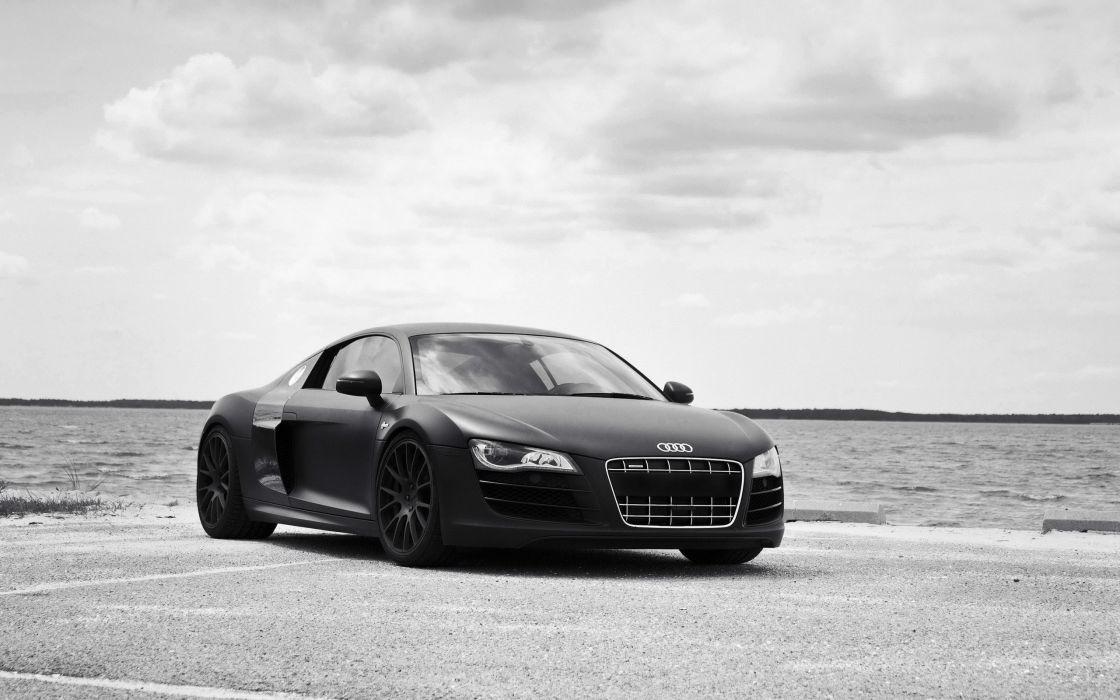 Black and white sea cars audi black cars wallpaper