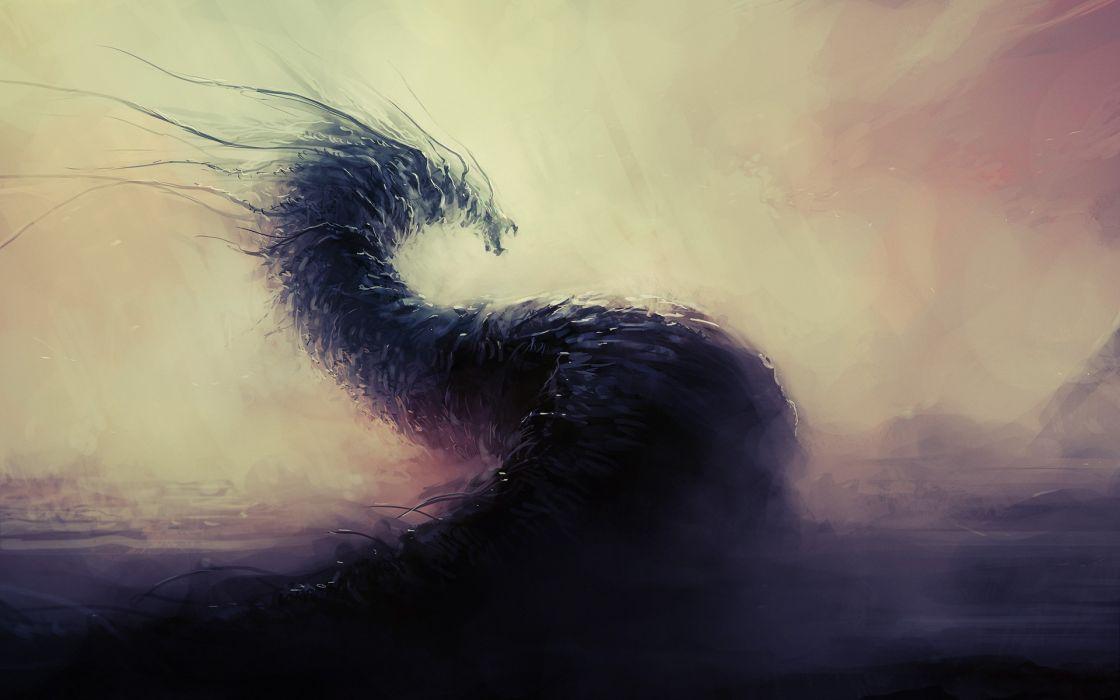 Fantasy art digital art worms wallpaper