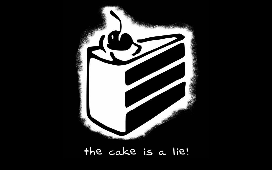 Steam portal the cake is a lie games wallpaper