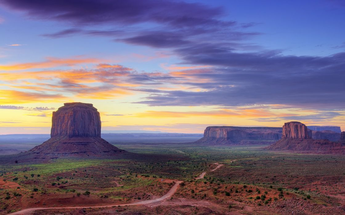 Mountains clouds landscapes dawn rocks mesas wallpaper