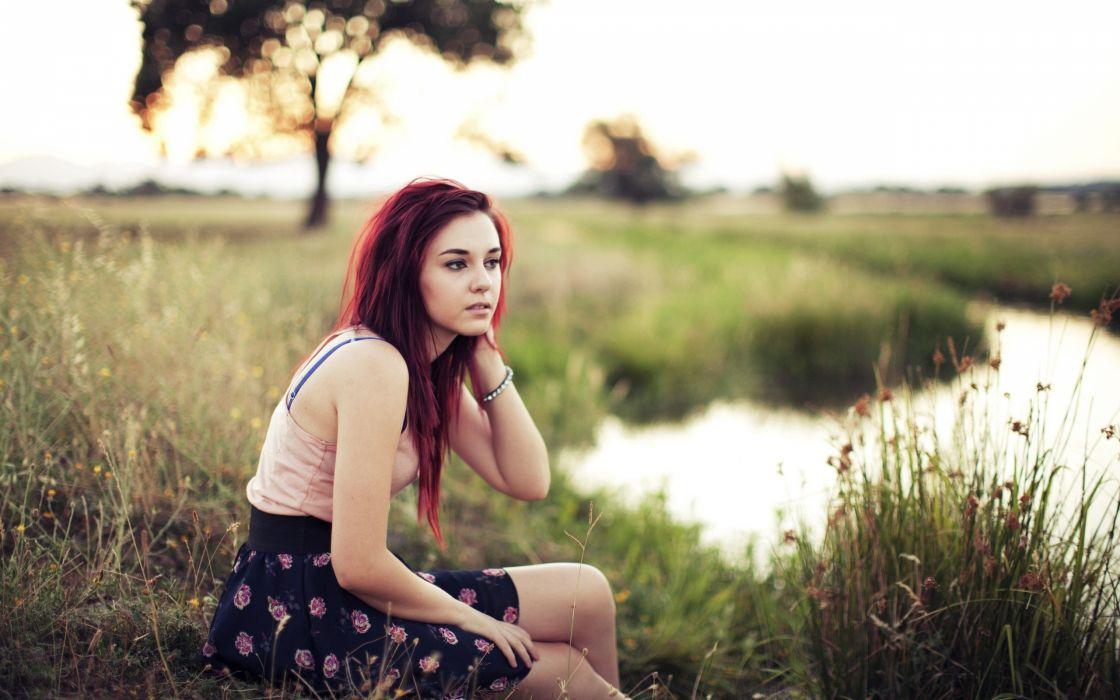 Women redheads outdoors people rivers girls in nature taylor mccutchan tosha mccarter wallpaper