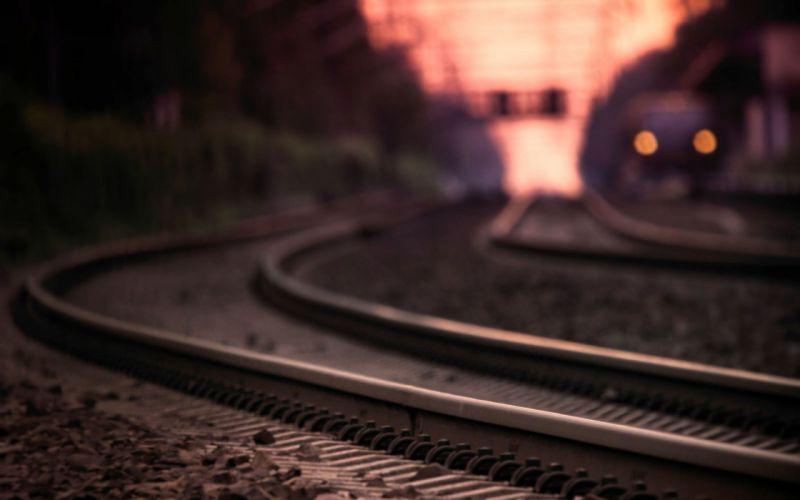 Railroad tracks wallpaper