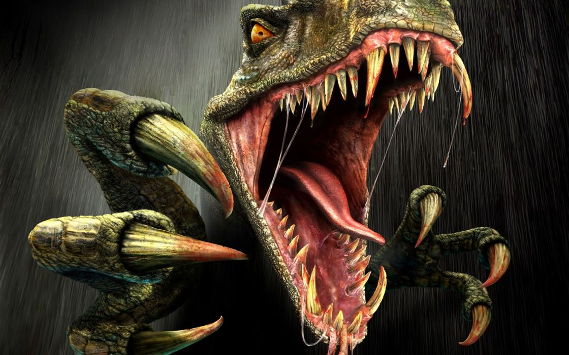 Dinosaurs turok fangs claws wallpaper
