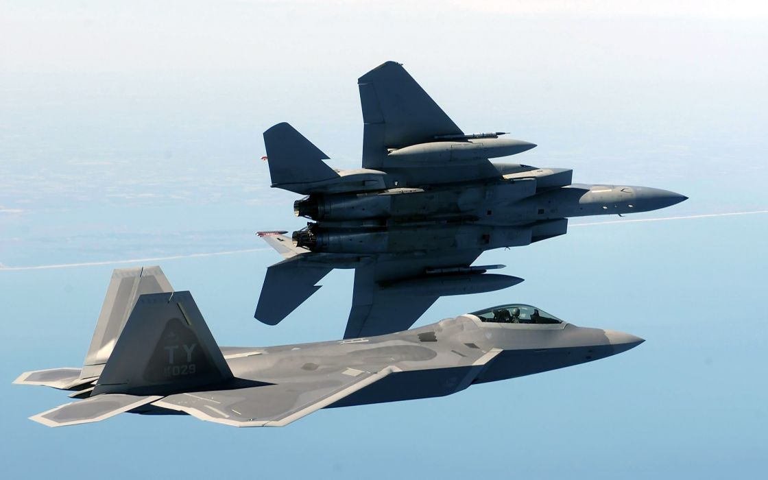 Aircraft military f-22 raptor planes vehicles f-15 eagle wallpaper