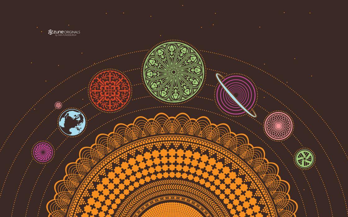 Minimalistic solar system zune wallpaper