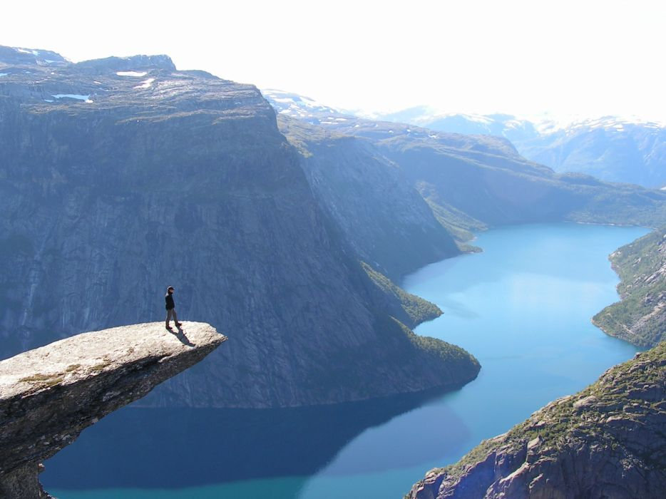 Landscapes norway fjord trolltunga wallpaper