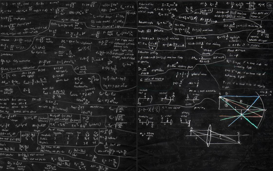 Physics mathematics chalk chalkboards wallpaper