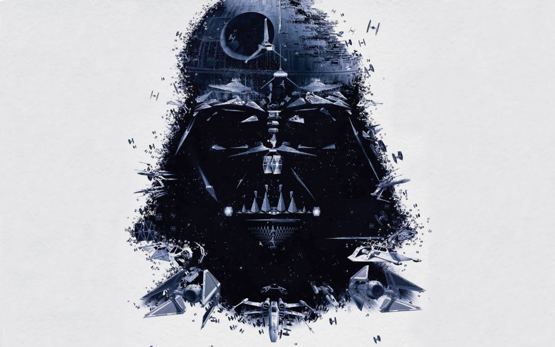 Star wars outer space movies darth vader death star dark side spaceships creative artwork vehicles wallpaper