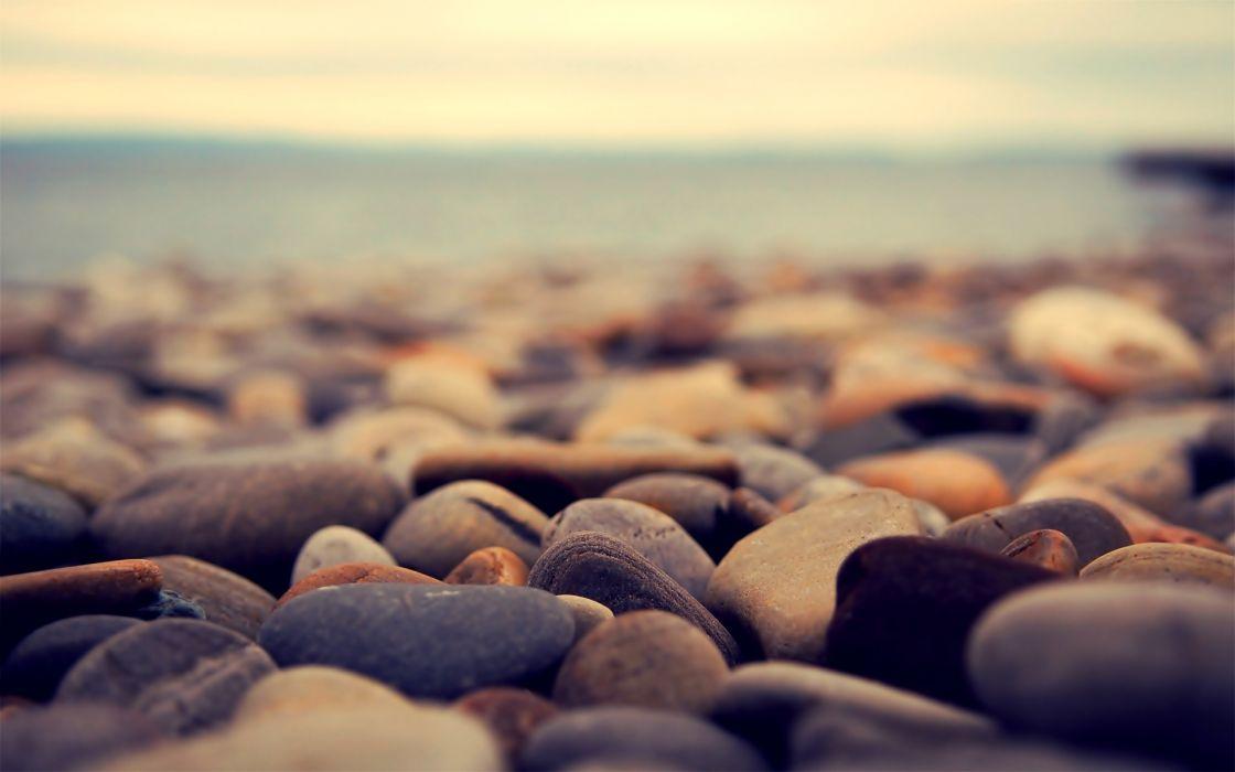 Nature stones macro depth of field wallpaper
