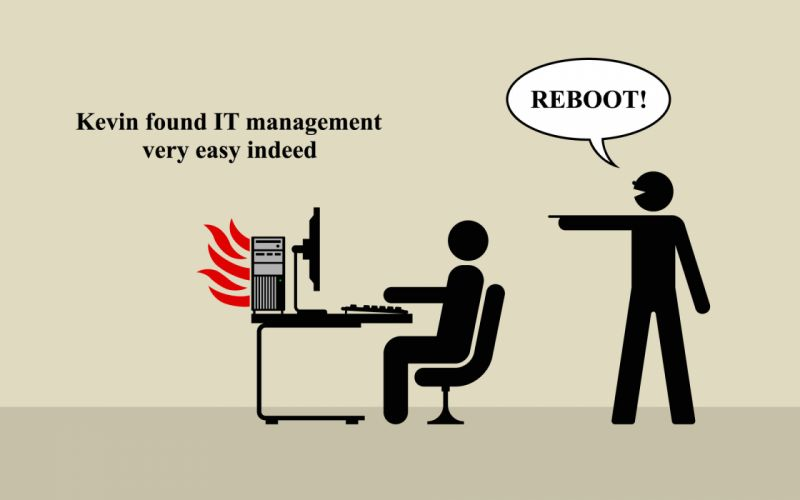 Computers fire help reboot parody wallpaper