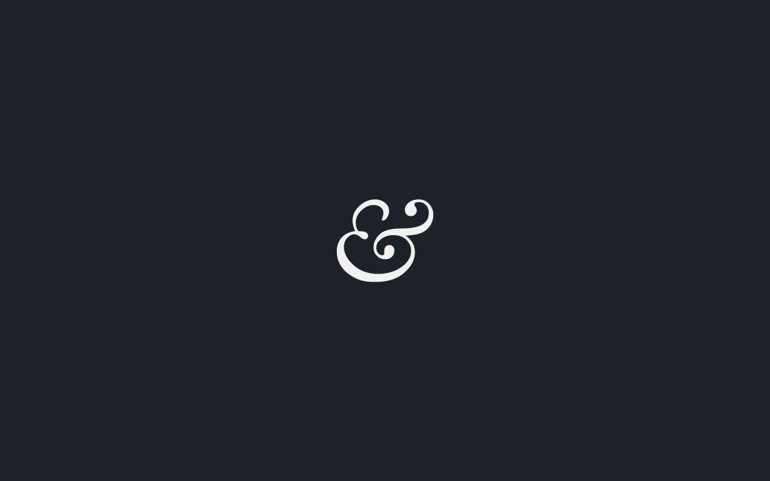 Minimalistic typography navy blue wallpaper