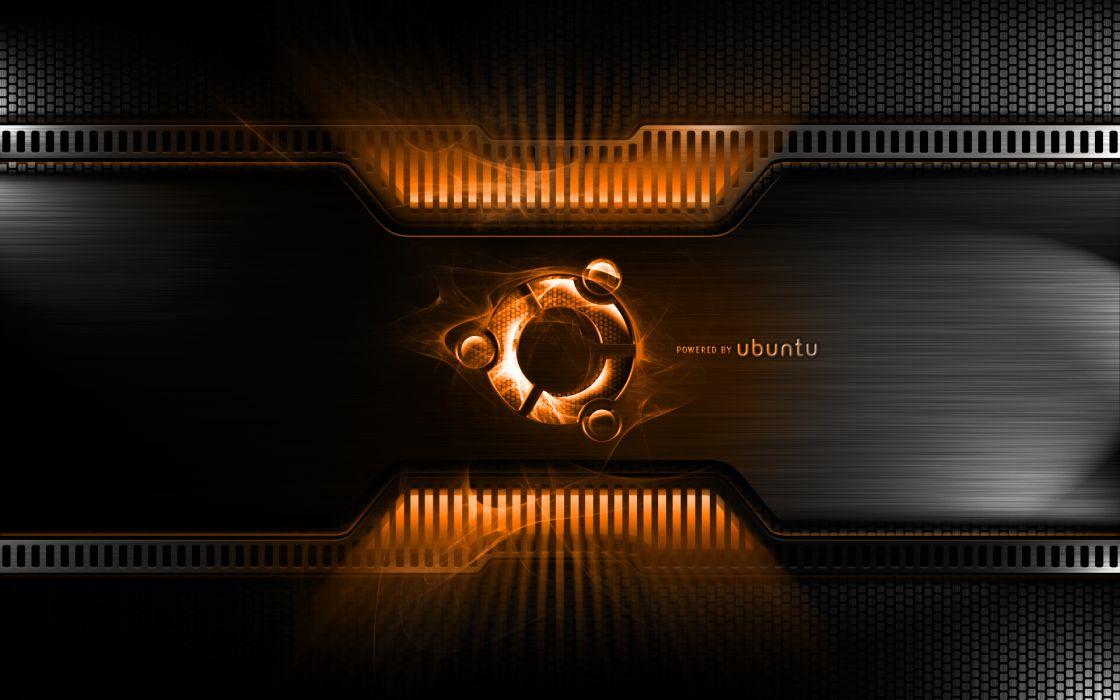 Orange metal linux ubuntu wallpaper