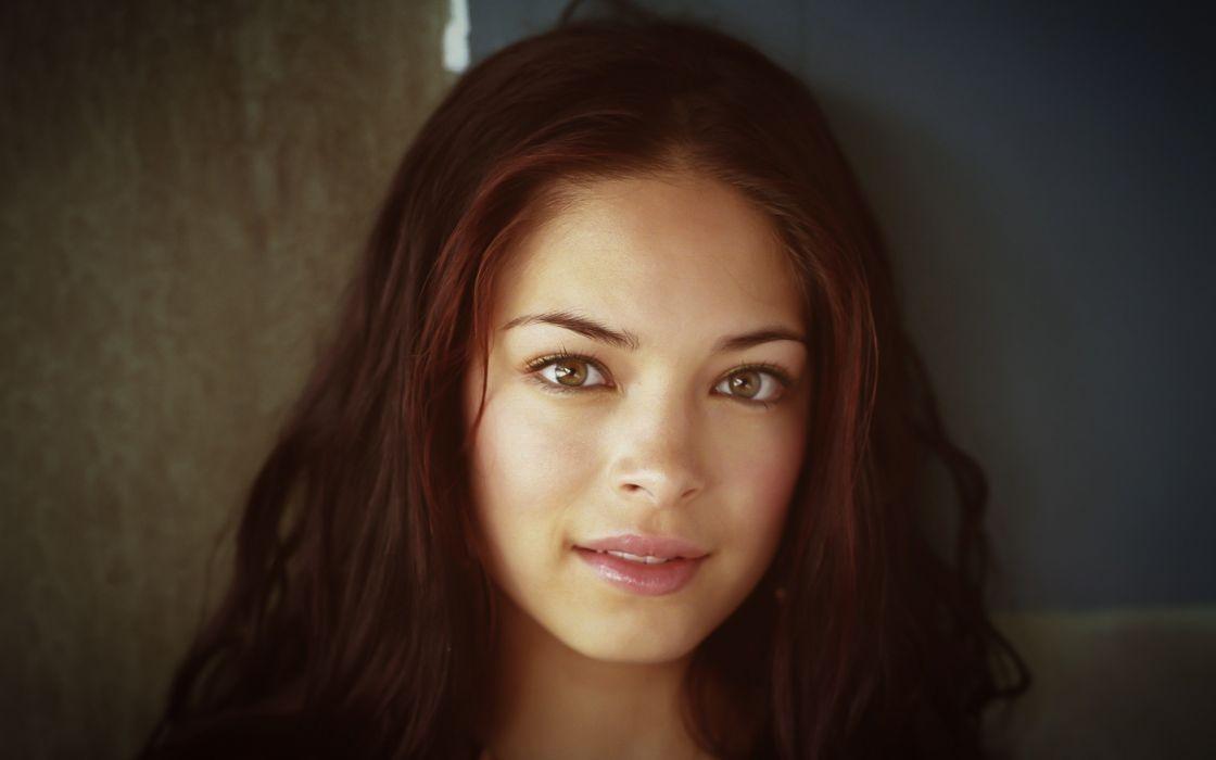 Brunettes women actress kristin kreuk faces wallpaper