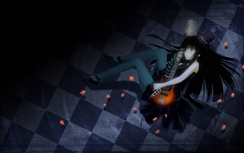 K-on! guitars akiyama mio anime girls wallpaper