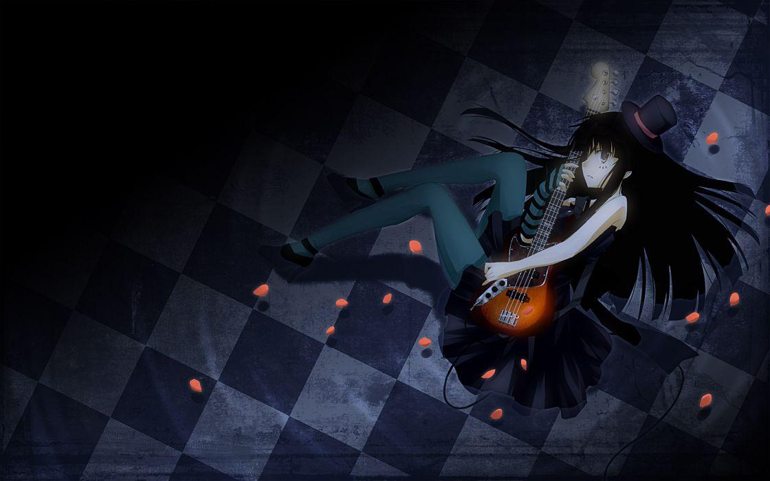 K-on! guitars akiyama mio anime girls wallpaper
