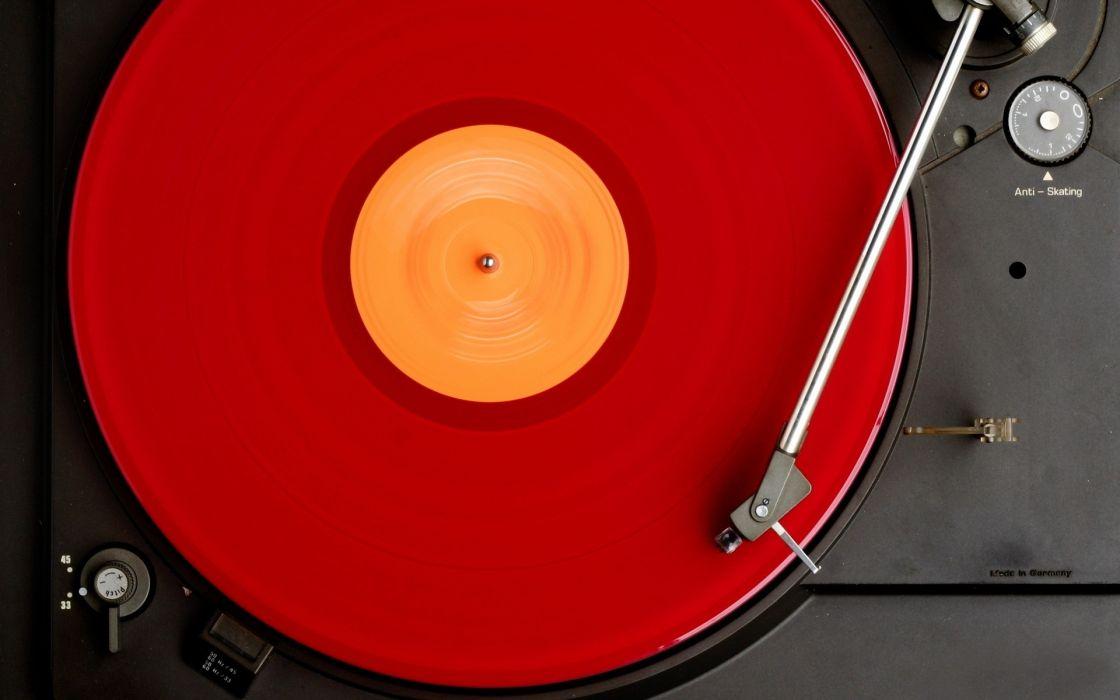 Red vinyl wallpaper