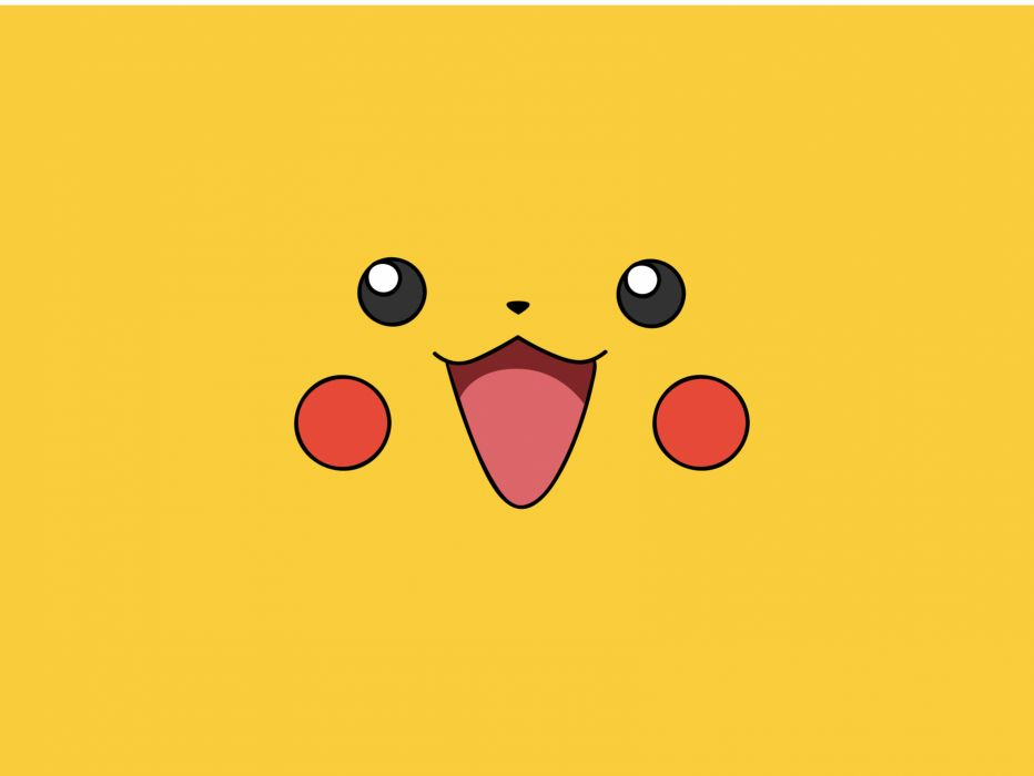 Pokemon video games yellow pikachu faces simple wallpaper