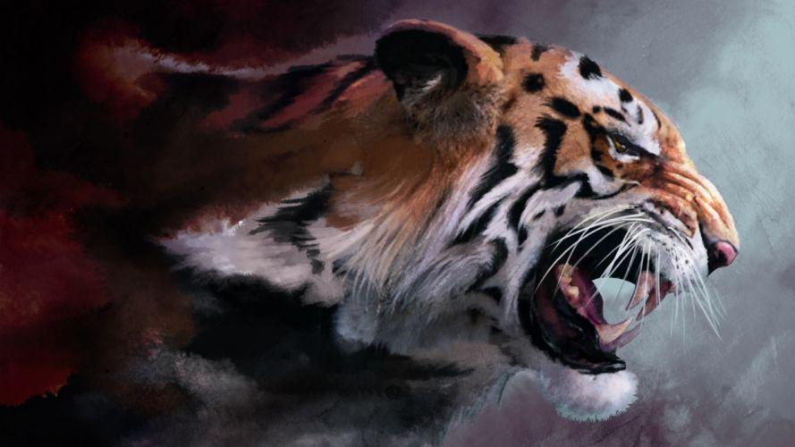 Tigers drawings wallpaper
