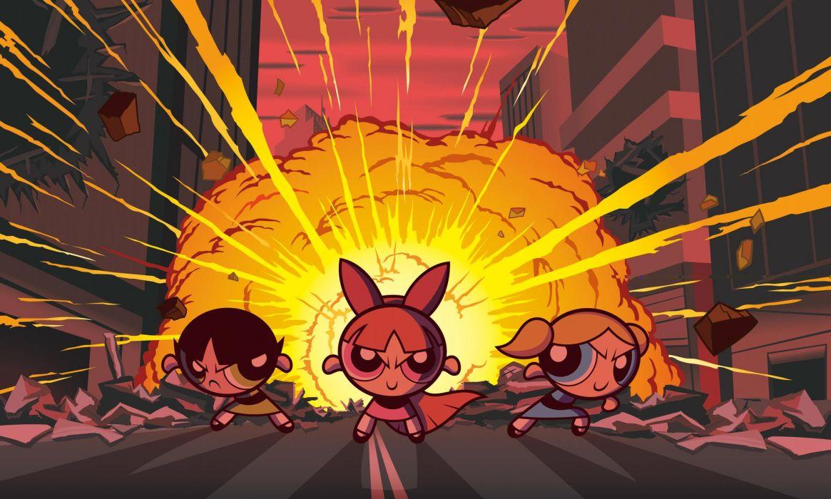 Cartoons powerpuff girls animated superchicche wallpaper
