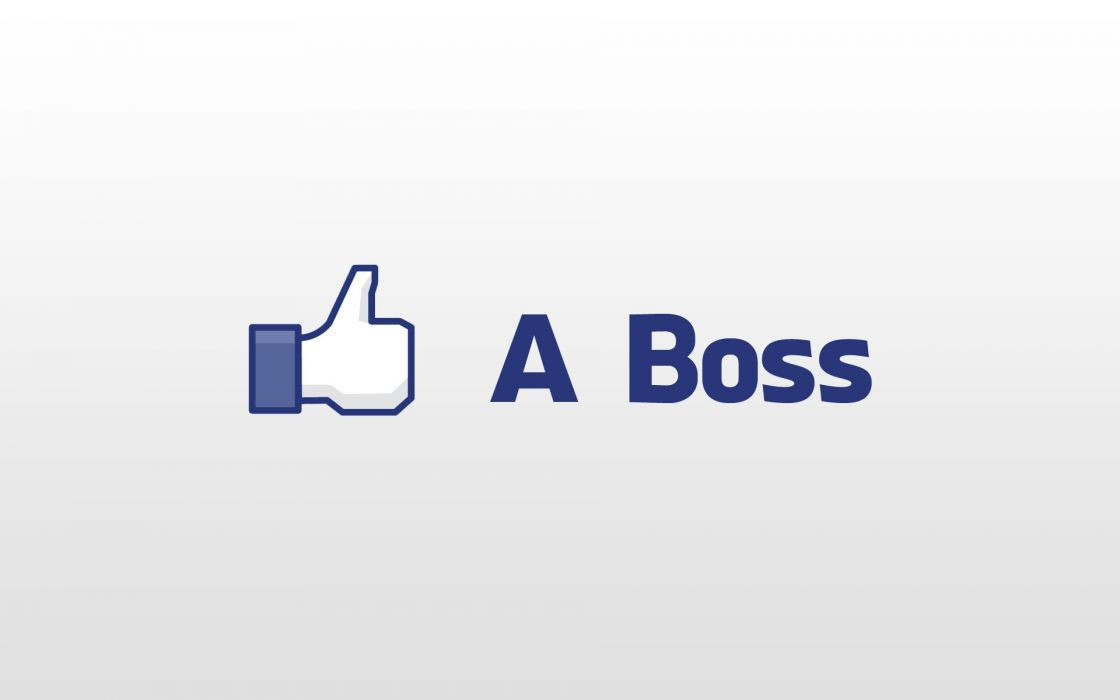 Minimalistic facebook boss thumbs up white background like a boss wallpaper