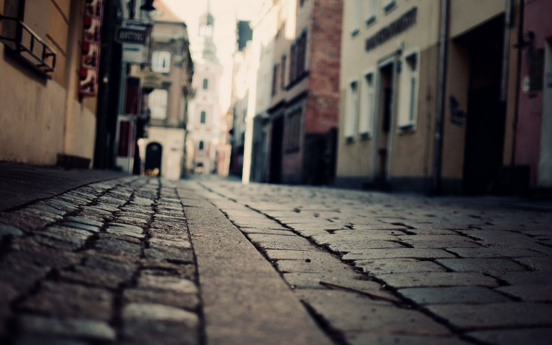 Streets houses cities wallpaper