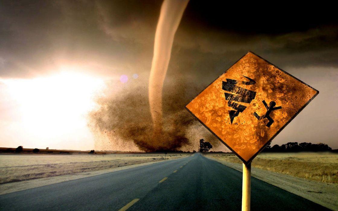 Landscapes nature destruction tornadoes roads wallpaper