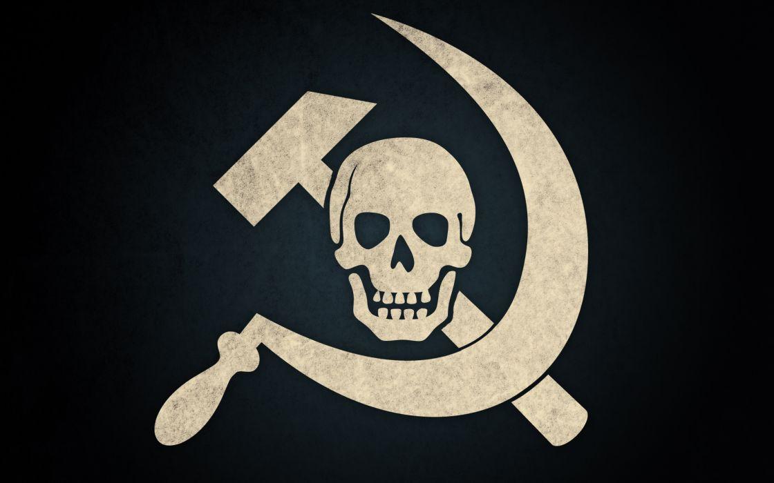 Skulls communism russian wallpaper