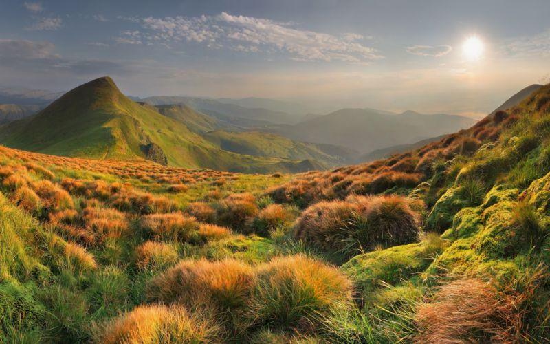 Mountains landscapes nature hills wallpaper