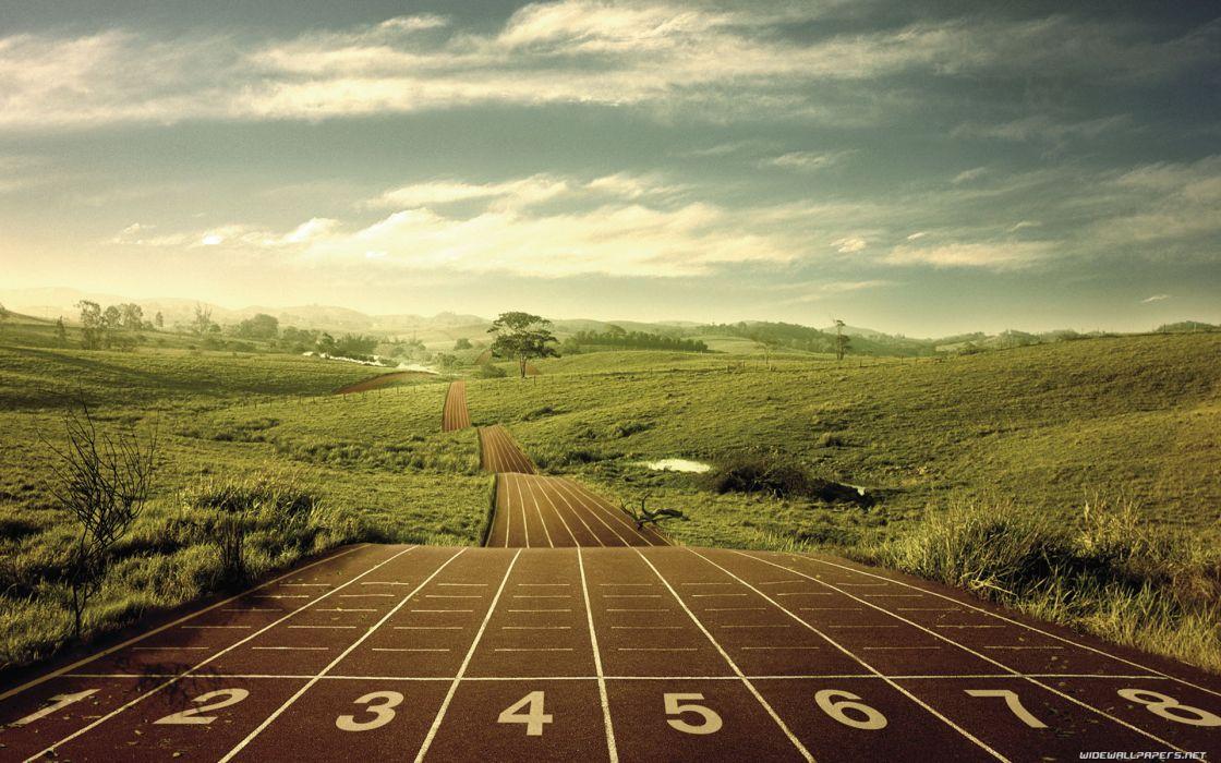 Nature running jogging track wallpaper