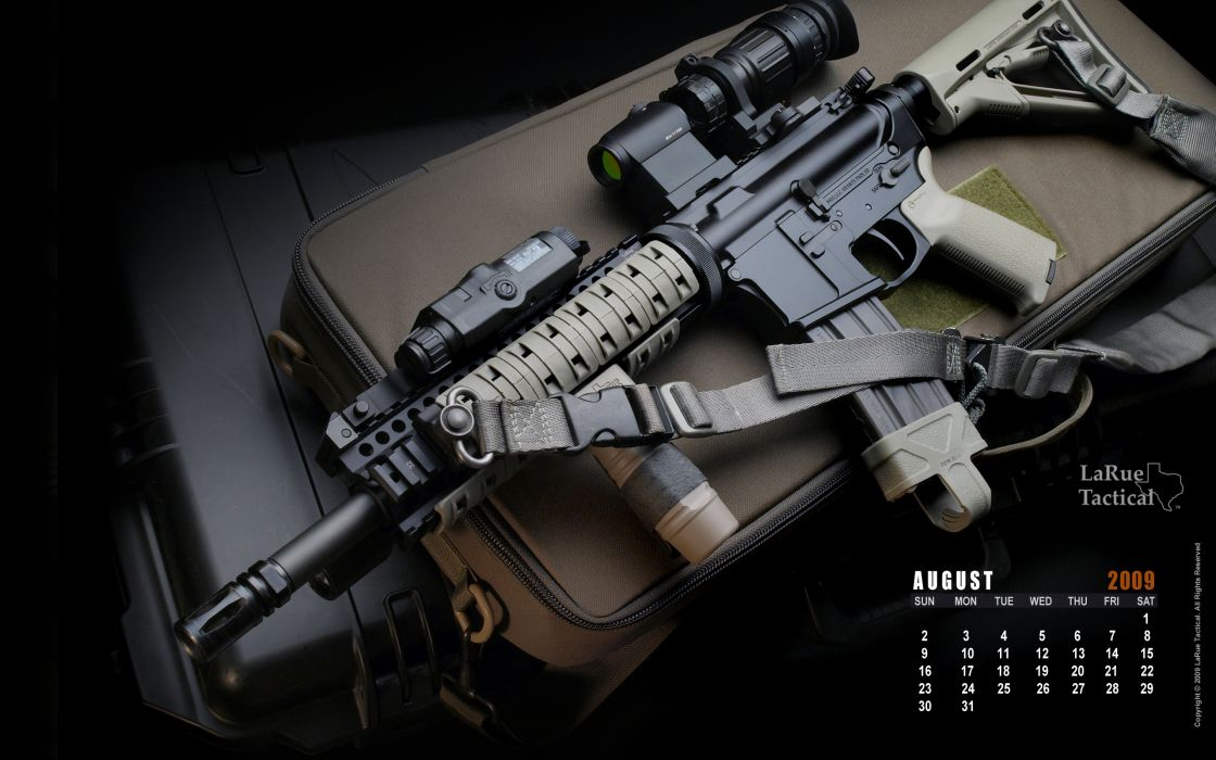 Guns weapons calendar m4 wallpaper