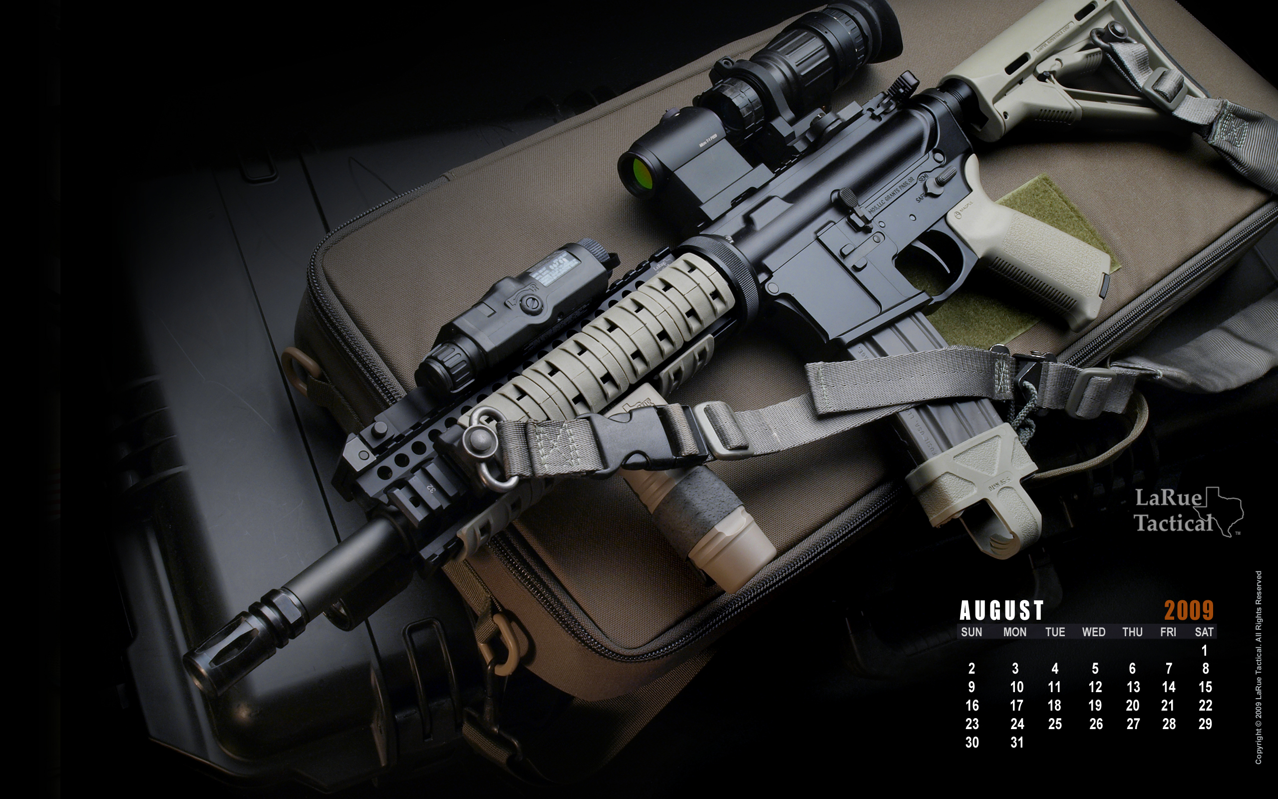 Guns Weapons Calendar M4 Wallpaper