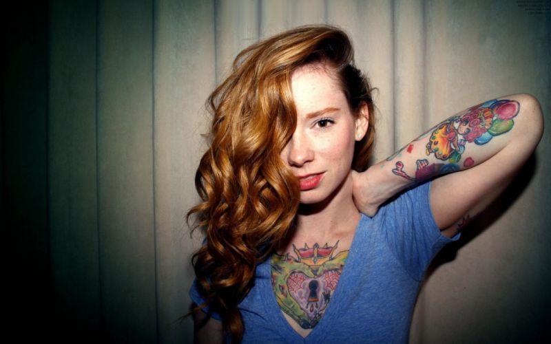 Tattoos women redheads hattie watson wallpaper